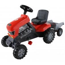 """Каталка-трактор с педалями """"Turbo"""" с полуприцепом"""