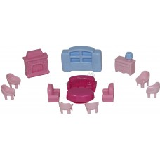 Набор мебели для кукол №4 (13 элементов) (в пакете)