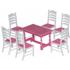 Набор мебели для кукол №6 (7 элементов) (в пакете)