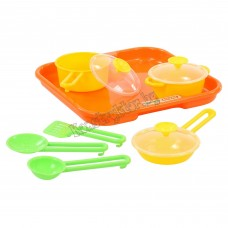 """Набор детской посуды """"Поварёнок №1"""" с подносом"""