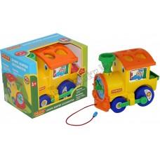 Занимательный паровоз (в коробке)