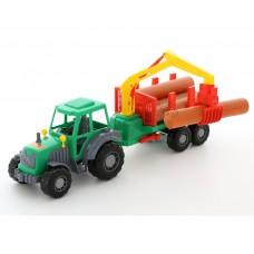"""""""Алтай"""", трактор с полуприцепом-лесовозом"""