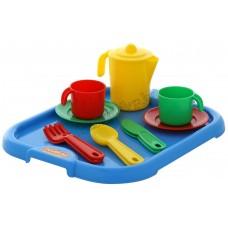 """Набор детской посуды """"Анюта"""" с подносом на 2 персоны"""