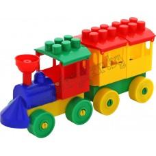 Конструктор - Паровоз с одним вагоном