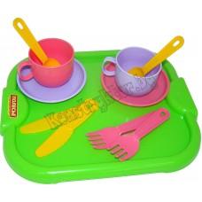"""Набор детской посуды """"Минутка"""" с подносом на 2 персоны"""