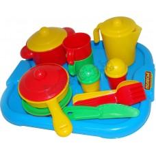 """Набор детской посуды """"Настенька"""" с подносом на 2 персоны"""