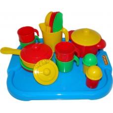 """Набор детской посуды """"Настенька"""" с подносом на 4 персоны"""